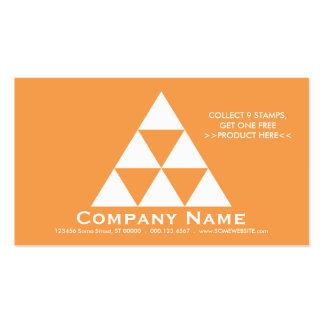 LOYALITÄTS-Pyramide-Briefmarkenkarte (Farbe Visitenkarten