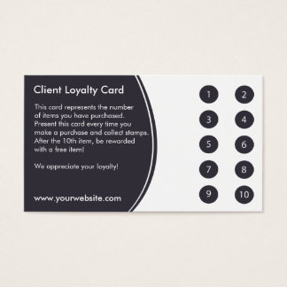 Loyalitäts-Visitenkarte-Lochkarte Visitenkarte