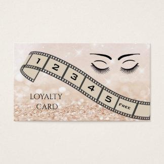 Loyalitätskarte glittery filmstrip visitenkarte