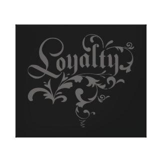 Loyalitätslogo auf Leinwand Leinwanddrucke