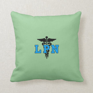 LPN Krankenschwester-medizinisches Symbol Kissen