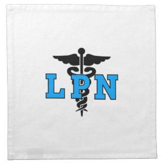 LPN Krankenschwester-medizinisches Symbol Serviette