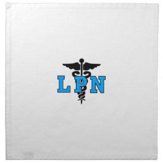 LPN Krankenschwester-medizinisches Symbol Stoffserviette