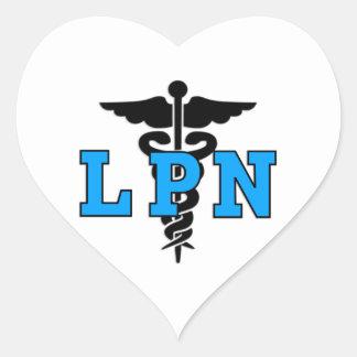 LPN Krankenschwestern Herz-Aufkleber