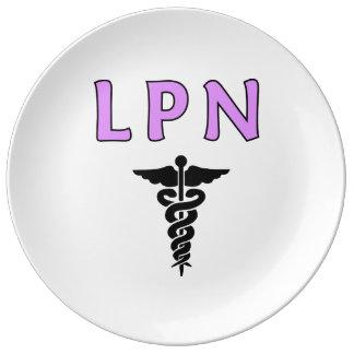 LPN medizinisch Porzellanteller