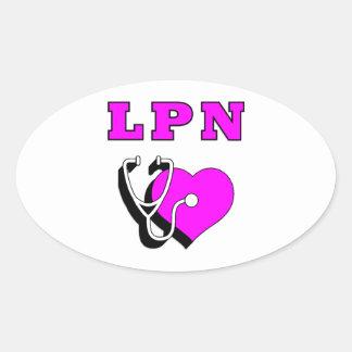 LPN pflegt Sorgfalt Ovale Aufkleber