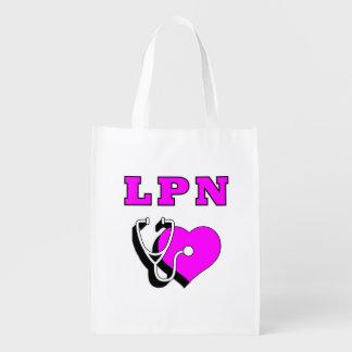 LPN pflegt Sorgfalt Wiederverwendbare Einkaufstasche