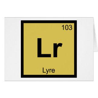LR - Lyre-Musik-Chemie-Periodensystem-Symbol Karte