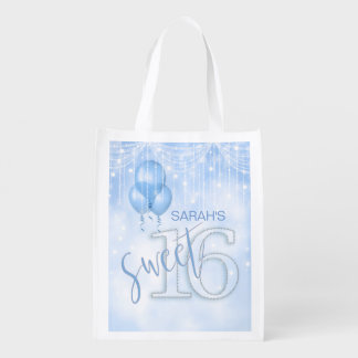 Lt Blue ID473 des Schnur-Licht-u. Ballon-Bonbon-16 Wiederverwendbare Einkaufstasche
