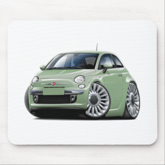 Lt Green Car Fiat-500 Mousepad