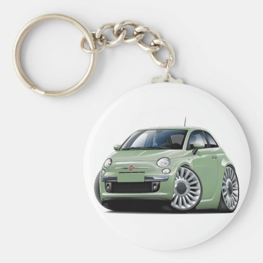 lt green car fiat 500 schl sselanh nger zazzle. Black Bedroom Furniture Sets. Home Design Ideas