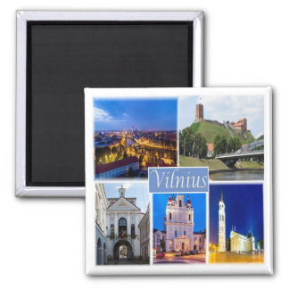 LT * Litauen - Vilnius Quadratischer Magnet