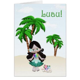 Luau Einladung Grußkarte