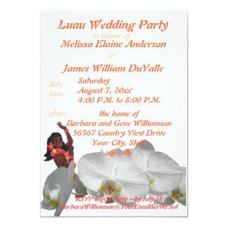 Luau Hochzeits-Party für Paare 12,7 X 17,8 Cm Einladungskarte