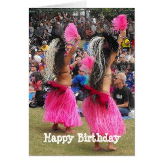 Luau Hula Tänzer, Maui Hawaii, Geburtstag Karte
