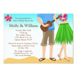 Luau Polterabend-Einladungs-Paare Einladungskarten