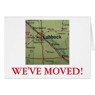 Lubbock haben wir Adressenmitteilung bewegt Karte