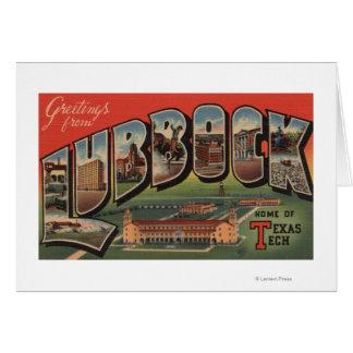 Lubbock, TexasTech - große Buchstabe-Szenen Karte
