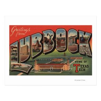 Lubbock, TexasTech - große Buchstabe-Szenen Postkarte