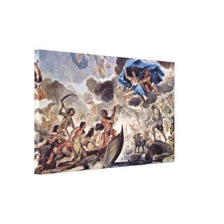 Luca Giordano - die Barke von Charon und von Morph Leinwanddrucke