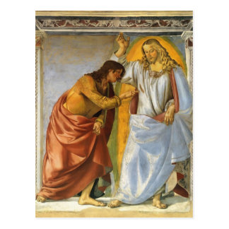 Luca Signorelli: Christus und zweifelnde Thomas Postkarte