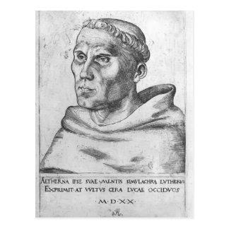 Lucas Cranach der ältere Martin Luther als Mönch Postkarte