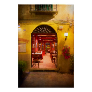 Lucca-Café Poster