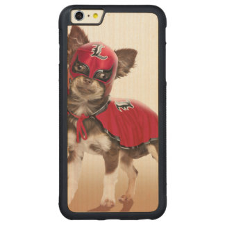 Lucha libre Hund, lustige Chihuahua, Chihuahua Carved® Maple iPhone 6 Plus Bumper Hülle