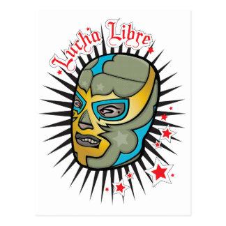 Lucha Libre mexikanische Wrestling-Maske Postkarte