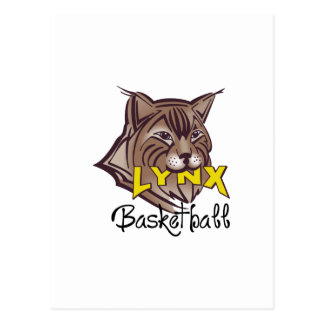 LUCHS-BASKETBALL POSTKARTE
