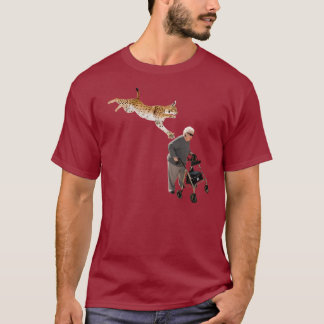 Luchs gegen alte Frau T-Shirt