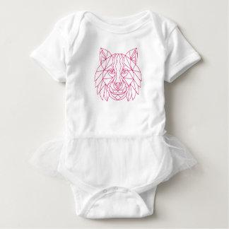 Luchs-Rotluchs-Kopf-Monolinie Baby Strampler