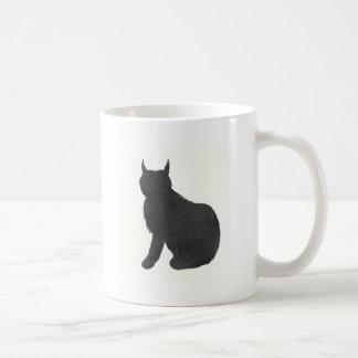 Luchs-Silhouette Kaffeetasse