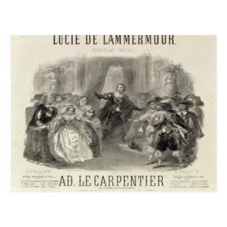 Lucia de Lammermoor' die Oper Postkarte