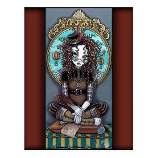 """Lucy"" Dampf-miserabele feenhafte Kunst-Postkarte Postkarte"