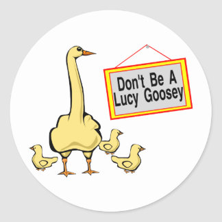 Lucy Goosey Runder Aufkleber
