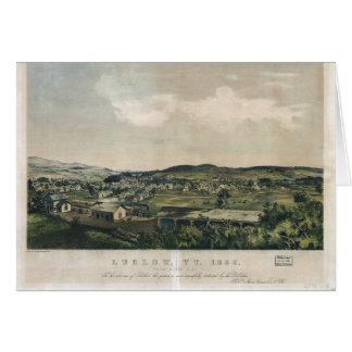 Ludlow Vermont vom Südhügel (1859) Karte