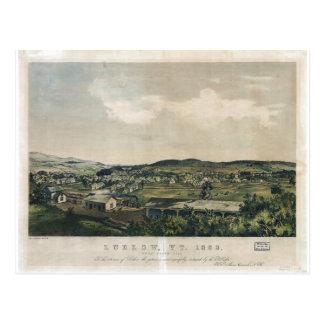 Ludlow Vermont vom Südhügel (1859) Postkarte