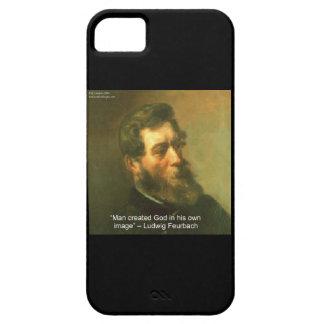 Ludwig Feurbach u. atheistischer Zitat iPhone 5 Etui Fürs iPhone 5