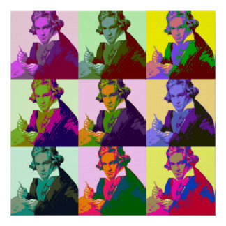 Ludwig van Beethoven (1770-1827) Poster
