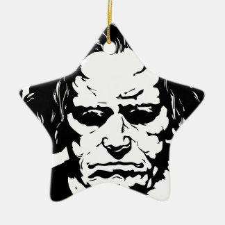 Ludwig van Beethoven - berühmter deutscher Keramik Stern-Ornament