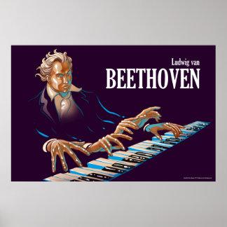 Ludwig van Beethoven illustriert Poster