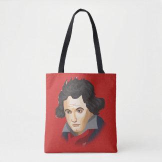 Ludwig van Beethoven im Cartoon Stil Tasche