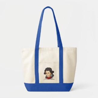 Ludwig van Beethoven im Cartoon Stil Tragetasche