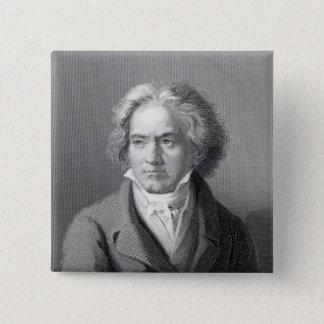 Ludwig van Beethoven Quadratischer Button 5,1 Cm