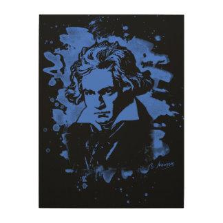 Ludwig Van Beethoven Tribute (blue) Holzwanddeko
