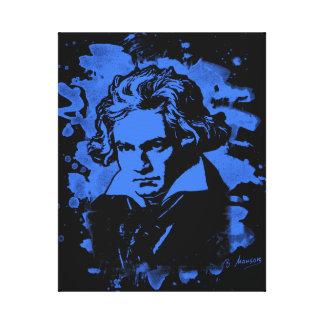 Ludwig Van Beethoven Tribute (blue) Leinwanddruck