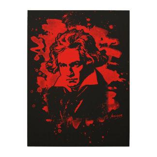 Ludwig Van Beethoven Tribute (red) Holzwanddeko