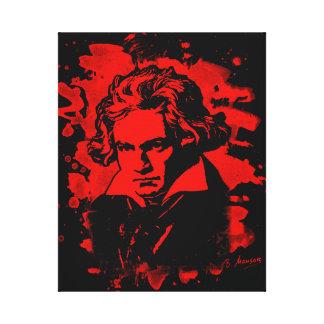 Ludwig Van Beethoven Tribute (red) Leinwanddruck