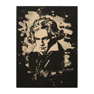Ludwig Van Beethoven Tribute (white) Holzdruck